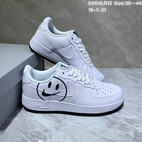 DCCK N1011 Nike Air Force 07 Smiling Face Low Casual Leather Skate Shoes White