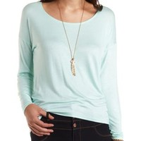 Back-Embroidery High-Low Dolman Top by Charlotte Russe