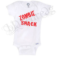 ZOMBIE SNACK   Gerber® Onesuit® Baby T-SHIRT SHOWER CUTE FUNNY SHIRT WALKING DEAD