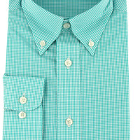 Gadwall Gingham in Teal by Southern Marsh