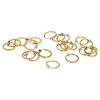 5pcs Fashion Stainless Steel Fake Nose Ring for Women Men Punk Clip On Piercing Body Nose Lip Belly Rings Hoop Ear
