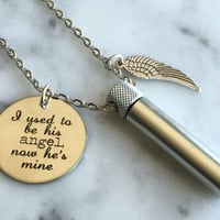 Cremation Necklace, Ashes Holder, Memorial Necklace, Silver Cremation Locket, Dad Memorial Necklace, Mom Memorial
