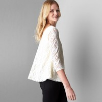 AEO Lace Swing T-Shirt, Natural   American Eagle Outfitters