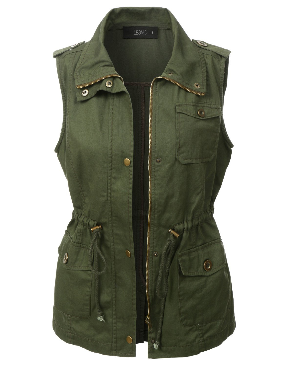 Image of Utilitarian Green Anorak Vest (CLEARANCE)