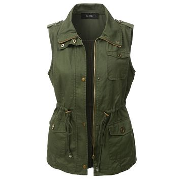 Utilitarian Green Anorak Vest (CLEARANCE)
