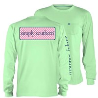 Simply Southern Preppy Collection Logo Long Sleeve Tee in Mint LS-SSLOGO-MINT