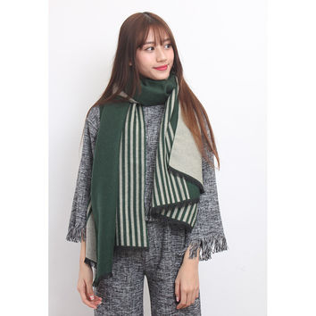 Color Blocking Wooly Scarf