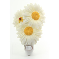 Ladybug on Daisies Night Light, Ibis & Orchid Nightlights, NIB, 50116