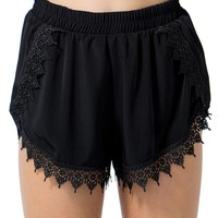 Crochet Trim Short