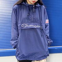 Champion New fashion letter print long sleeve top Blue