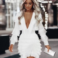 Limpopo Fancy Tassel White Party Dress