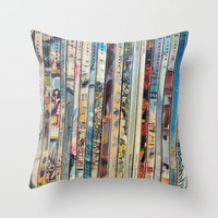 Reader's Digest (German Edition) Throw Pillow by Angela Bruno