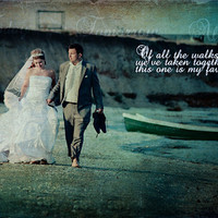 Wedding Anniversary Quote First Dance Song Lyrics Photo Art Custom Photo Editing