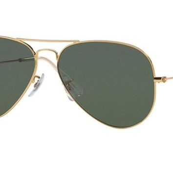Cheap Ray-Ban Aviator Metal Sunglasses Green 55 RB3025 Polarized outlet
