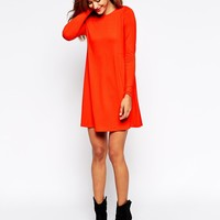 ASOS Swing Dress with Long Sleeves and Seam Detail