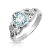 Bling Jewelry Baby Blue Love Ring