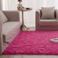 Fluffy Rugs Anti-Skid Shaggy Area Rug Dining 80X120 Bedroom or living room hotal room Carpet Floor Mat E1Xc