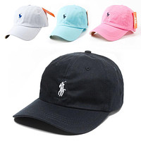 Hot NWT RL POLO PONY BASEBALL CAP ADJUSTABLE STRAP SUN HAT Caps ONE SIZE