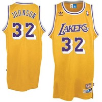 adidas Earvin ''Magic'' Johnson Los Angeles Lakers Youth Hardwood Classics Retired Player Swingman Throwback Home Jersey - Gold