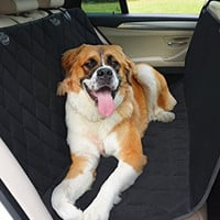 THE #1 Rated Hammock Dog Car Seat Covers for Dogs - Waterproof Highly Protective Nonslip Pet Seat Cover with Seat Anchors for Cars and SUVs - The Best Protector for your Back Seat - Lifetime Warranty