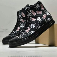 Converse x Disney co-branded tide brand men and women canvas high-top shoes