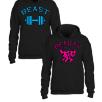 beast and beauty couple matching design