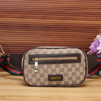Gucci Leather Fashion Purse Waist Bag Crossbody Single-Shoulder Bag