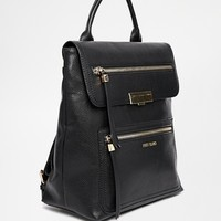 River Island Double Zip Front Backpack with Top Handle