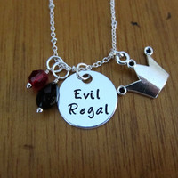 Evil Regal Necklace. Once Upon A time Inspired Necklace. Once necklace. Silver colored.