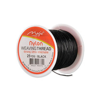 Weaving Thread Black Nylon 25YDS