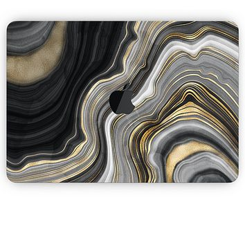 Vivid Agate Vein Slice Foiled V13 - Apple MacBook Pro, Pro with Touch Bar or Air Skin Decal Kit (All Versions Available)