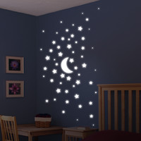 Brewster Home Fashions Euro Glow in the Dark Stars Wall Decal