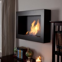 Anywhere Fireplace Soho Black Satin Anywhere Indoor Fireplace | www.hayneedle.com