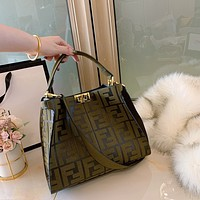 Fendi Women Leather monnogam Handbag Crossbody bags Shouldbag Bumbag