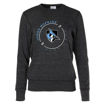 NCAA John's Hopkins Blue Jays RYLJHU11 Women's Crew Neck Sweatshirt