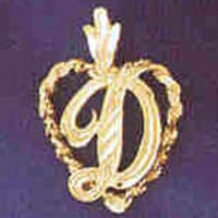14K GOLD INITIAL CHARM - D #9581