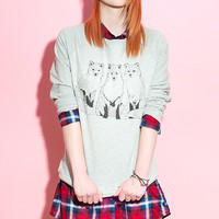 Three Foxes Sweater