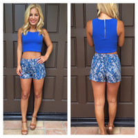 All A Blur Printed Shorts