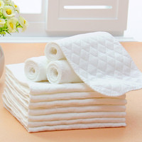 Reusable baby Diapers Cloth Diaper Inserts 1 piece 3 Layer Insert 100% Cotton Washable Baby Care Products Hot New 2016