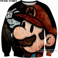 3D Print Super Mario Graphic Sweatshirts