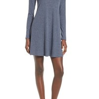 Socialite Maddie Rib Knit Cowl Shift Dress | Nordstrom