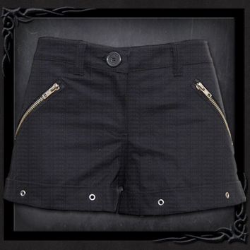Womens GOTHIC ROCK Hotpants Black From Spiral USA in the United States