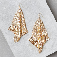 AEO Gold Mesh Duster Earring, Gold