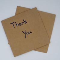 Thank You Cards Pack of 10 with Envelopes