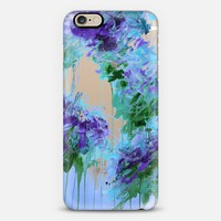 WHISPERED SONG 6 - Icy Winter Blue Purple Green Wedding Floral Bouquet Nature Flowers Bride Bridal Bridesmaid Elegant Chic Transparent Abstract Painting Swirls  iPhone 6 case by Ebi Emporium   Casetify
