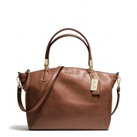 MADISON SMALL KELSEY SATCHEL IN LEATHER
