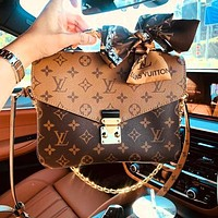 Copy of LV Bag Louis Vuitton Classic Square Type Messenger bag Bag Shoulder Bag Coffee Brown