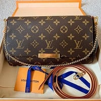 LV Louis vuitton fashion pearl diamond bee more letter print leather chain handbag shoulder bag crossbody bag