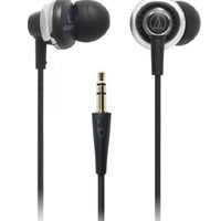 Audio Technica ATH-CKM77 Earbuds - Black (Discontinued by Manufacturer)