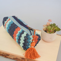 Mohave Tassel Pouch Navy